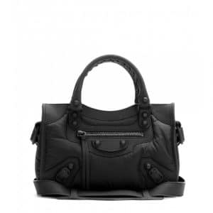 Balenciaga Black Nylon Classic Mini City Bag