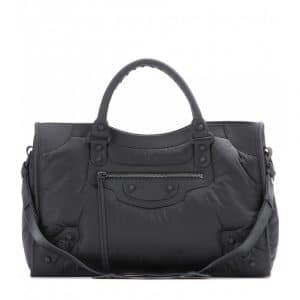 Balenciaga Black Nylon Giant 12 City Bag
