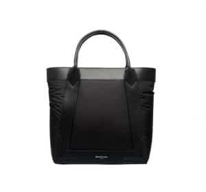 Balenciaga Black Nylon Navy Cabas S Bag