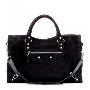 Balenciaga Encre Suede Giant 12 City Bag - Fall 2014