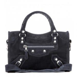 Balenciaga Encre Suede Giant 12 Mini City Bag