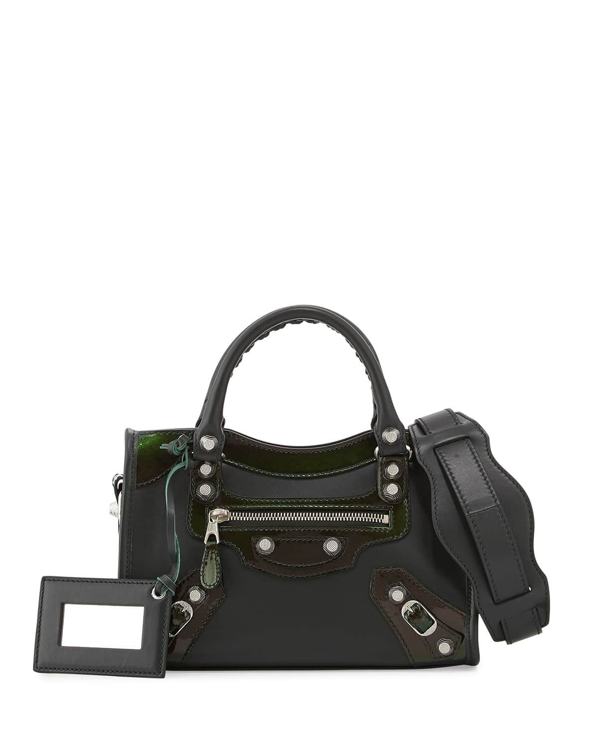 balenciaga holiday 2015 bag collection features the city in coated calfskin spotted fashion. Black Bedroom Furniture Sets. Home Design Ideas
