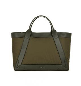 Balenciaga Khaki Nylon Navy Cabas M Bag