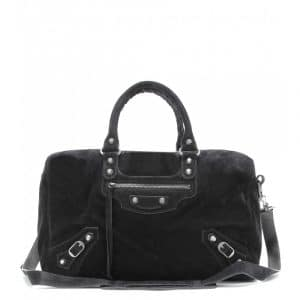 Balenciaga Noir Suede Classic Polly Bag