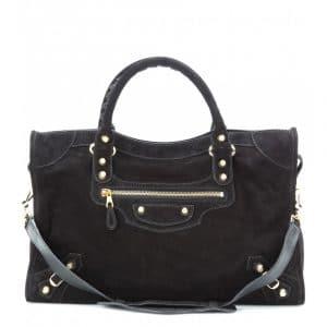 Balenciaga Noir Suede Giant 12 City Bag