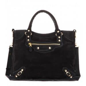 Balenciaga Noir Suede Giant 12 Velo Bag