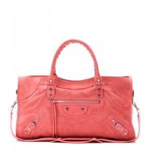 Balenciaga Rose Jaipur Suede Classic Part Time Bag