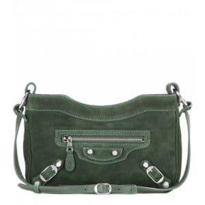 Balenciaga Vert Militaire Suede Giant Hip Bag