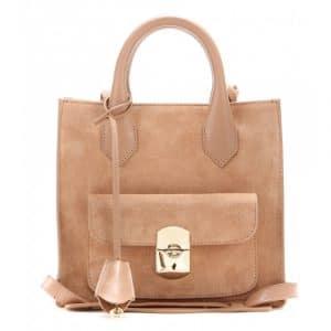 Balenciaga Vieux Rose Suede Padlock Mini All Afternoon Bag