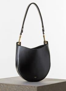 Celine Black Palmelato Calfskin Hobo Small Bag - Spring 2015