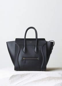 Celine Black Smooth Calfskin Mini Luggage Bag - Pre-Fall 2014