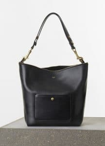 Celine Black Zipped Hobo Medium Bag - Spring 2015