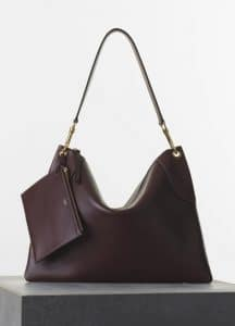 Celine Burgundy Flatbag with Pouch Bag - Spring 2015