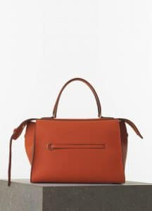 Celine Burnt Orange Bullhide Calfskin Medium Ring Bag - Spring 2015