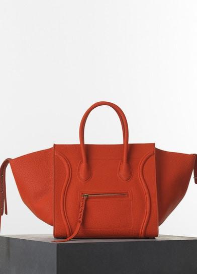 9bf214ca59 Celine Burnt Orange Bullhide Calfskin Phantom Luggage Medium Bag - Spring  2015