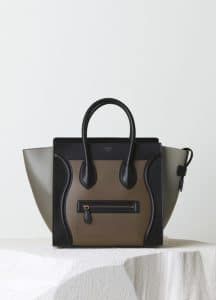 Celine Dark Grey Satin Calfskin Mini Luggage Bag - Pre-Fall 2014
