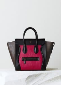 Celine Fuchsia Multicolor Python Mini Luggage Bag - Pre-Fall 2014
