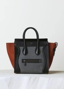 Celine Grey Multicolor Felt Mini Luggage Bag - Pre-Fall 2014