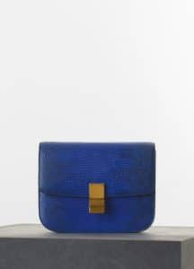 Celine Indigo Lizard Box Medium Bag - Spring 2015