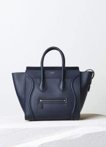 Celine Ink Smooth Calfskin Mini Luggage Bag - Pre-Fall 2014