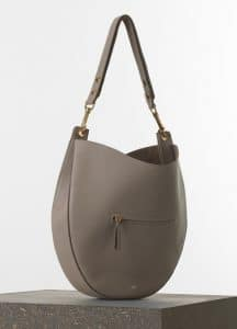 Celine Light Taupe Hobo with Zip Medium Bag - Spring 2015