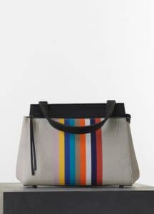 Celine Multicolor Canvas/Calfskin Edge Medium Bag - Spring 2015