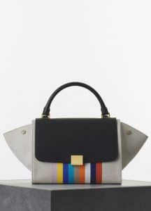 Celine Multicolor Canvas/Calfskin Trapeze Medium Bag - Spring 2015