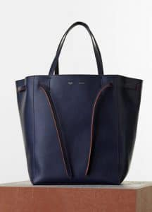 Celine Navy Blue Smooth Calfskin Phantom Cabas Medium Bag - Spring 2015