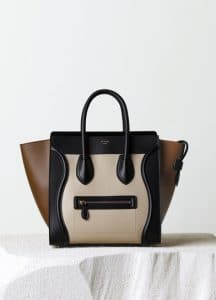 Celine Seashell Satin Calfskin Mini Luggage Bag - Pre-Fall 2014