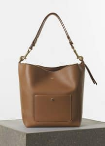 Celine Tan Zipped Hobo Medium Bag - Spring 2015