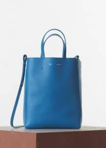 Celine Turquoise Vertical Cabas Small Bag - Spring 2015