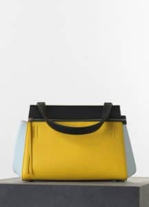 Celine Yellow/Black/Light Blue Edge Small Bag - Spring 2015