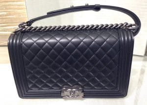 Chanel Black New Medium Boy Bag - Cruise 2015