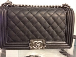 Chanel Black Old Medium Boy Bag - Cruise 2015