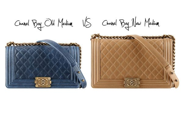 b2d8759c45f62 Chanel Boy Bag  Old Medium versus New Medium