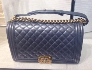 Chanel Charcoal Iridescent New Medium Boy Bag - Cruise 2015