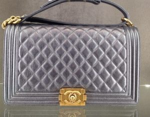 Chanel Dark Silver New Medium Boy Bag - Cruise 2015