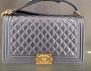 Chanel Dark Silver New Medium Boy Bag - Cruise 2015