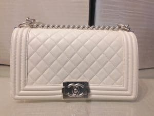 Chanel Ivory Old Medium Boy Bag - Cruise 2015