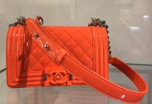 Chanel Orange Small Boy Bag - Cruise 2015