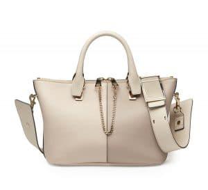 Chloe Abstract White Colorblock Baylee Medium Bag