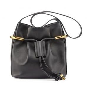 Chloe Black Emma Drawstring Bag
