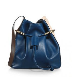 Chloe Factory Blue Emma Drawstring Bag