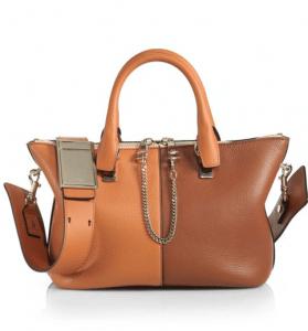 Chloe Hazel Brown Colorblock Baylee Small Bag