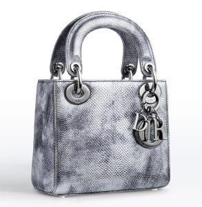 Dior Vieil Argent Karung Lady Dior Small Bag - Cruise 2015