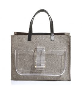 Fendi Black Canvas Simply Shopping Tote Bag 1