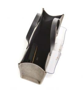 Fendi Black Canvas Simply Shopping Tote Bag 2
