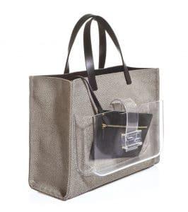 Fendi Black Canvas Simply Shopping Tote Bag 3