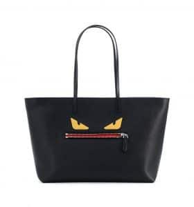 Fendi Black Monster Tote Bag