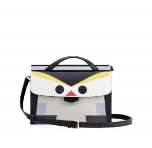 Fendi Black Multicolor Penguin Demi Jour Mini Bag